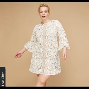 Lane Bryant ivory lace dress